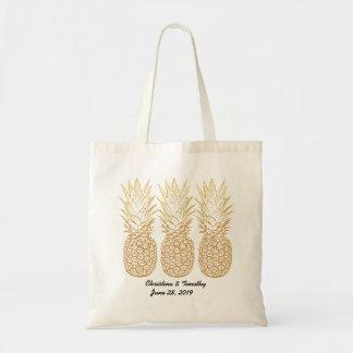 Gold Pineapple Wedding Welcome Bag,Wedding Favor Tote Bag