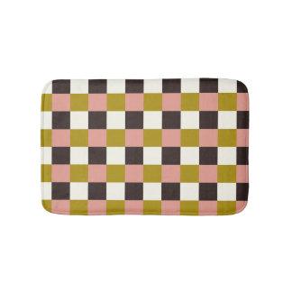 Gold Pink Chocolate Ivory Bath Mat