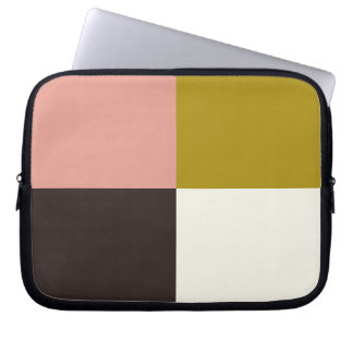Gold Pink Chocolate Ivory Laptop Sleeve