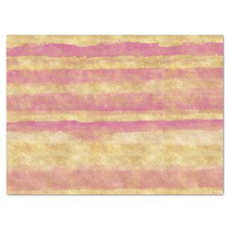 Gold Pink Glitz Stripes Tissue Paper