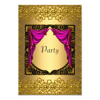 Gold Pink  Party Card