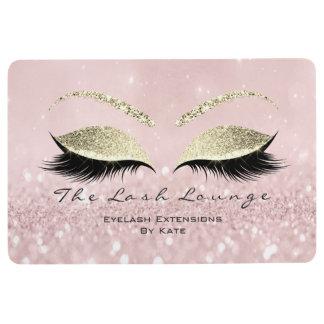Gold Pink White Makeup Glitter Lashes Beauty Studi Floor Mat