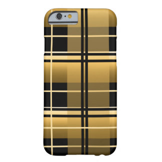 Gold Plaid Barely There iPhone 6 Case