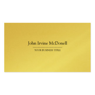 Gold Plain & Simple Luxurious Business Card