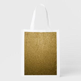 GOLD PLASTIC REUSABLE GROCERY BAG