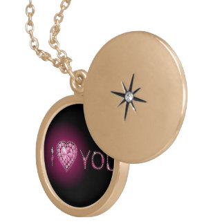 Gold plated chain locket necklace