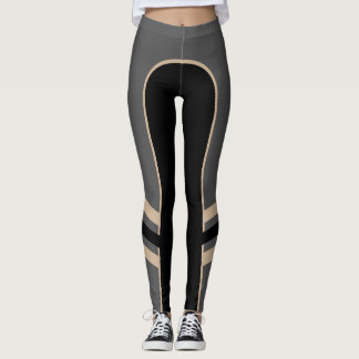 Gold/Platinum/Black Side Band Leggings