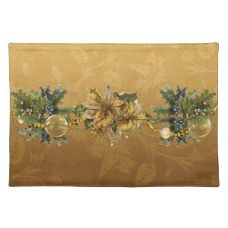 Gold Poinsettias Placemat