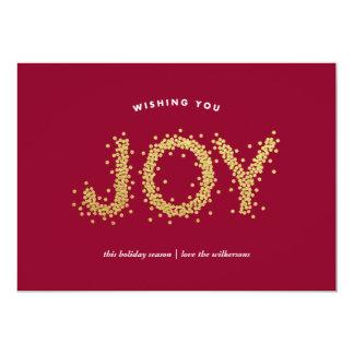 Gold Pointillism Shimmering Joy Holiday Card