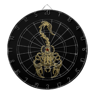 Gold poisonous scorpion very venomous insect dartboard