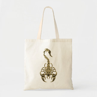 Gold poisonous scorpion very venomous insect tote bag