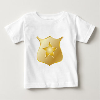 Gold Police Badge Baby T-Shirt