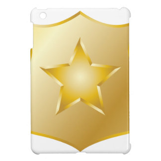 Gold Police Badge iPad Mini Covers