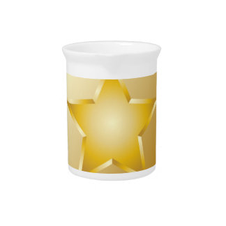 Gold Police Badge Pitcher