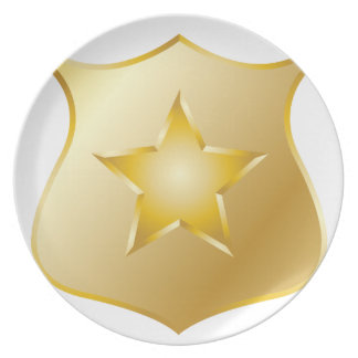 Gold Police Badge Plate