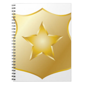 Gold Police Badge Spiral Notebook