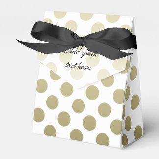 Gold Polka Dot Favour Box