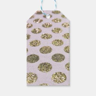 Gold Polka Dot Glitter Look