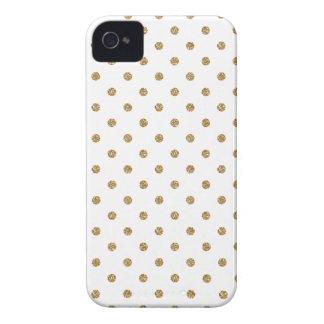 Gold Polka Dot Iphone 4 Case
