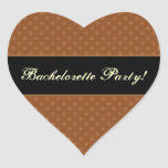 Gold Polka Dot Party Stickers
