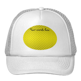 Gold polka dots on gold background mesh hats