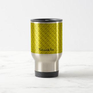 Gold polka dots on gold background coffee mug