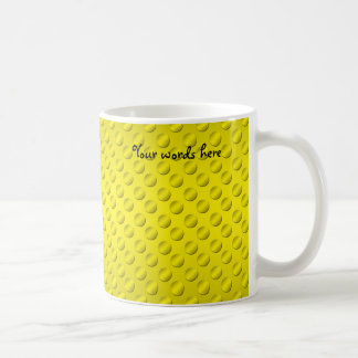 Gold polka dots on gold background mug