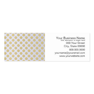 Gold Polka Dots on Silver Business Card Templates