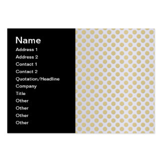 Gold Polka Dots on Silver Business Cards