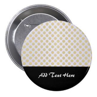 Gold Polka Dots on Silver Button