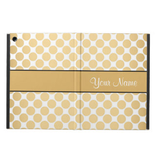 Gold Polka Dots On White Background Case For iPad Air