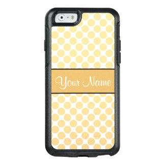 Gold Polka Dots On White Background OtterBox iPhone 6/6s Case