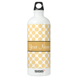 Gold Polka Dots On White Background SIGG Traveller 1.0L Water Bottle