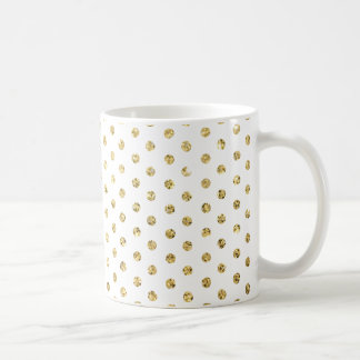 Gold Polka-Dots Pattern Mugs