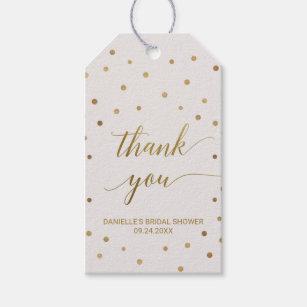 Gold Polka Dots Thank You Gift Tags