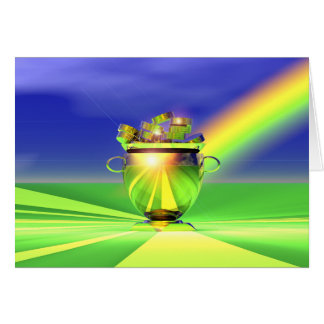 Gold Pot Of Gold Card