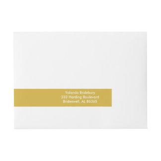 Gold Premium Color Coordinated Wraparound Address Label