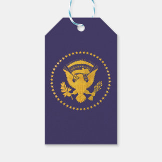Gold Presidential Seal on Blue Ground Gift Tags