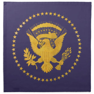 Gold Presidential Seal on Blue Ground Napkin