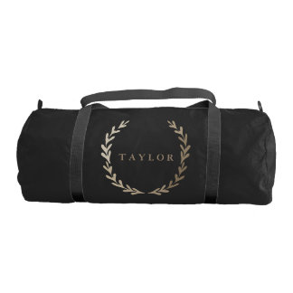 Gold Print Gym Duffle Bag