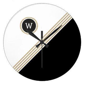 Gold Pro Monogram Acrylic Wall Clock