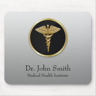 Gold Professional Medical Caduceus - Mousepad