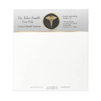 Gold Professional Medical Caduceus - Notepad