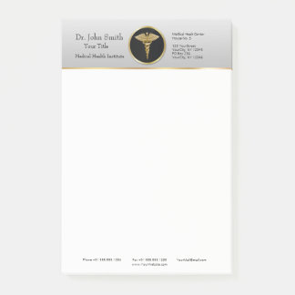 Gold Professional Medical Caduceus Post-it® Notes