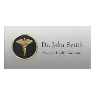 Gold Professional Medical Caduceus - Room Sign