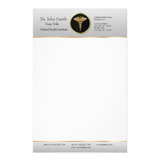 Gold Professional Medical Caduceus - Stationery