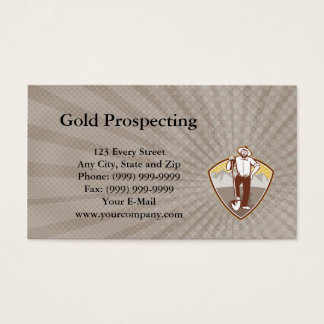 Gold Prospecting Business Card