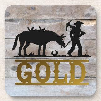 Gold Prospector. Drink Coaster