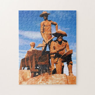 Gold Prospector Photo Designed Color Jigsaw Puzzle