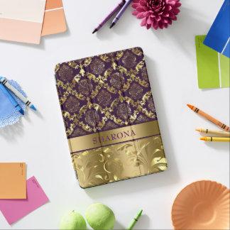 Gold & Purple Floral Damasks & Swirls iPad Pro Cover